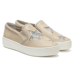 Pia Star Cement Leather Slip On Trainer