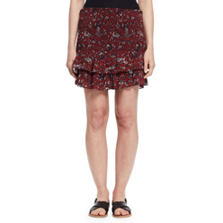 Afos Floral Tiered Flounce Skirt