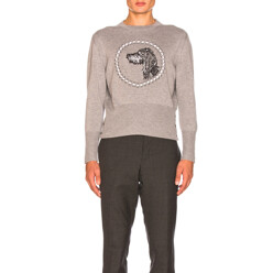 Crew Neck Pullover With Hector Browne Embroidery