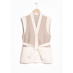 Quilted Overlapping Waistcoat