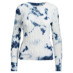 Tie-Dye Cable-Knit Sweater
