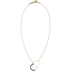 Gold Hotel Excelsior Two Circles Necklace