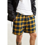 Uo Plaid Flannel Volley Short