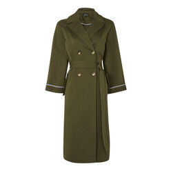 Relaxed Tie Waist Trench Coat