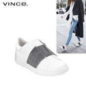 Vista Leather Striped Low-Top Sneaker