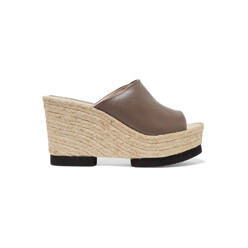 Conchita Leather Espadrille Wedge Sandals