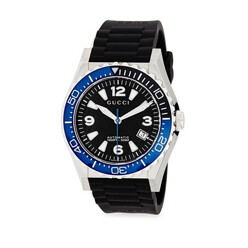 Brushed Steel Rubber Strap Watch