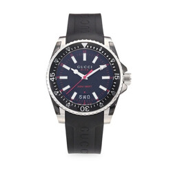 Dive Rubber And Stainless Steel Watch
