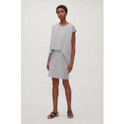Layered Short-Sleeve Dres...