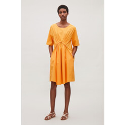 Rounded Pleat Dress