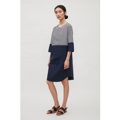 Knit And Cotton Poplin Dr...