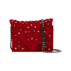 Shoulder Bag With Colored Stones