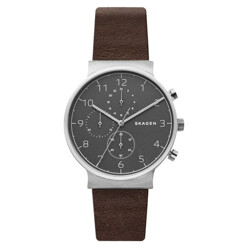 Ancher Chronograph Leather Strap Watch, 40mm