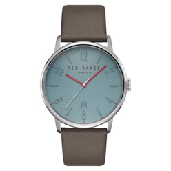 Thomas Leather Strap Watch, 42mm