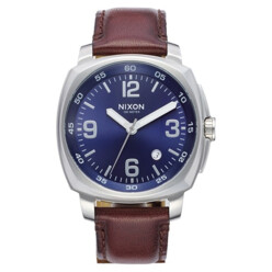 Charger Leather Strap Watch, 42mm