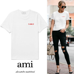 [17 F/W 신상품]Woman Ami F.Ami.Ly Embroidered Tee