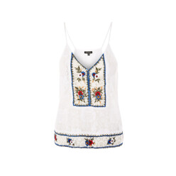 Embroidered Swing Camisole Top