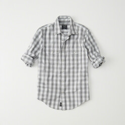 Snap-Front Flannel Shirt