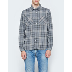 Work Flannel Check Long S...