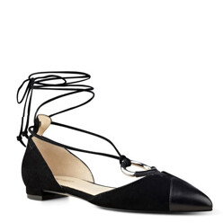 Alice Pointy Toe Ghillie Flats