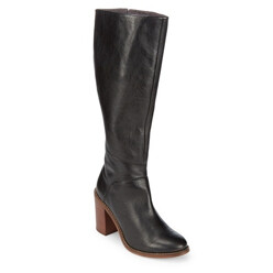 Memory Leather Mid-Calf Boots