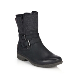 Simmens Leather And Felt Shearling-Lined Boots