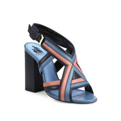 Patchwork Leather Sandals