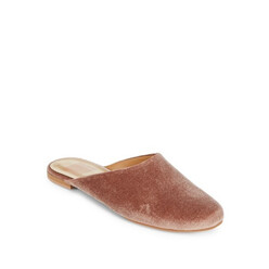 Round Toe Leather Slippers