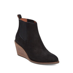 Pallet Leather Wedge Ankle Boots
