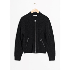 Wool Mohair Bomber Knit