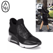 Lazer Leather High-Top Slip-On Sneakers