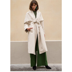 Off White Snap Trench Coat