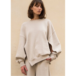 Taupe Open Fleece Top