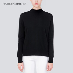 [윤아 착용]Mockneck Long Sleeve_Black