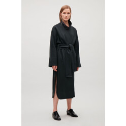 Belted Jersey Coat