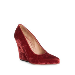 Velvet Wedge Pumps