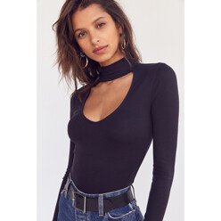Dallas Cut-Out Turtleneck Top