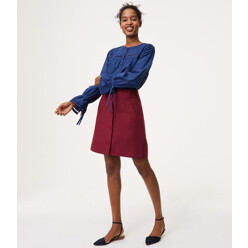 Covered Button Front Skirt