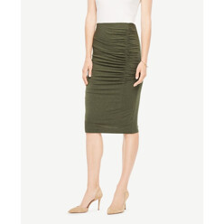 Ruched Knit Pencil Skirt