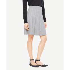 Stitched Flare Sweater Skirt