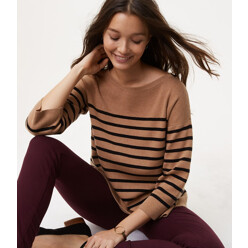 Striped Split Back Sweater