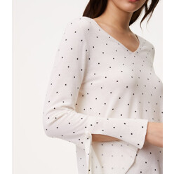 Dot Tie Cuff Sweater