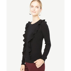 Diagonal Ruffle Sweater
