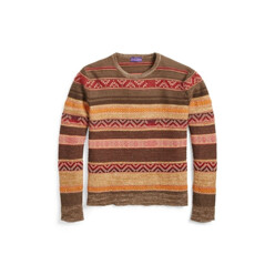 Patterned Crewneck Sweater