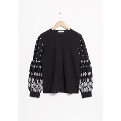 Embroidery Puff Sleeve Blouse