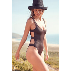 Caged Side Strap One-Piece Swimsuit