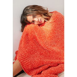 Chenille Sweater Throw Bl...