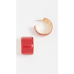 Enamel Hoop Ring Earrings