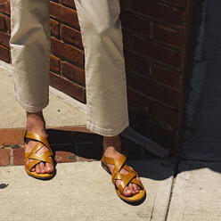 Cross Sandal_Tan