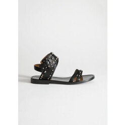 Studded Cross Strap Sanda...